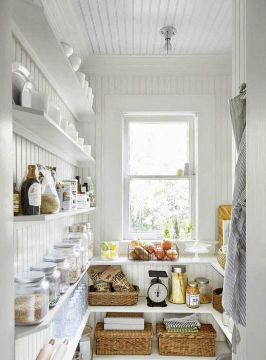 سبدهای حصیری به عنوان نظم دهنده های آشپزخانه