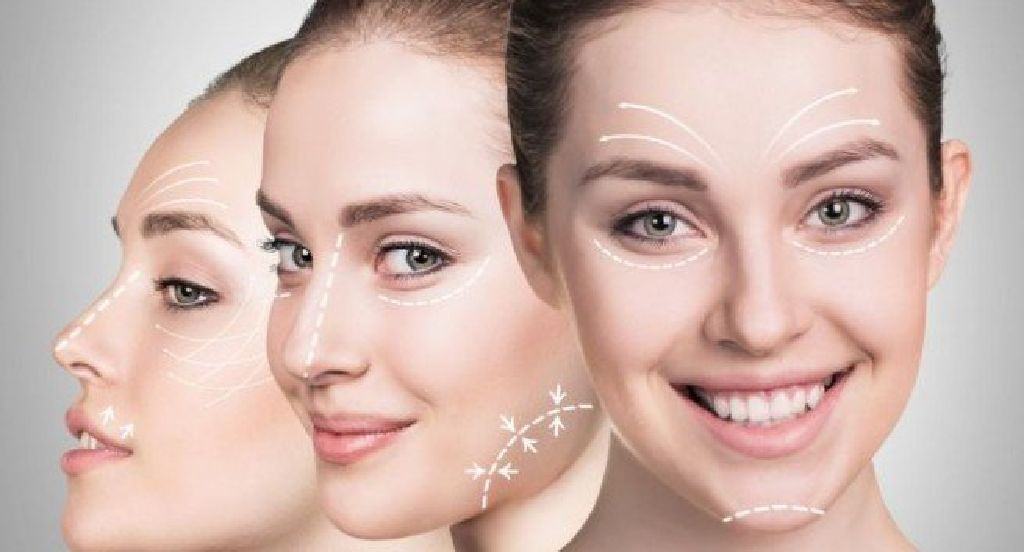 مناطق تزریق ژل صورت